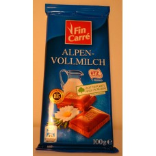 Шоколад Fin Care Alpen-vollmilch 100г